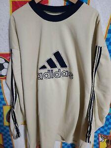 Tradicion niebla Seguro  De Colección Adidas Bootleg Sudadera Cuello Redondo Bordado Crema para  hombre 3XL | eBay