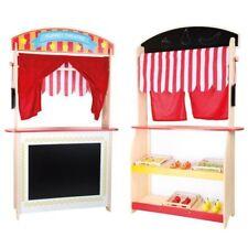 Bancarella e teatrino dei burattini in legno gioco per bambini Legler 10328