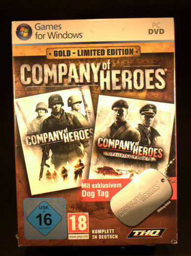 Company Of Heroes - Gold Limited Edition (PC, 2009, DVD-Box)