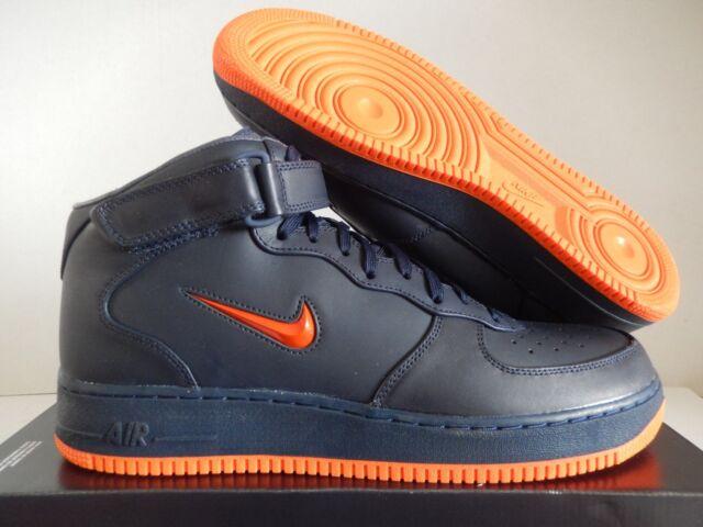 air force 1 navy blue orange