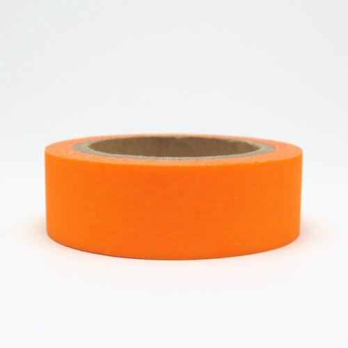 Washi Tape Orange Neon 15mm x 10m