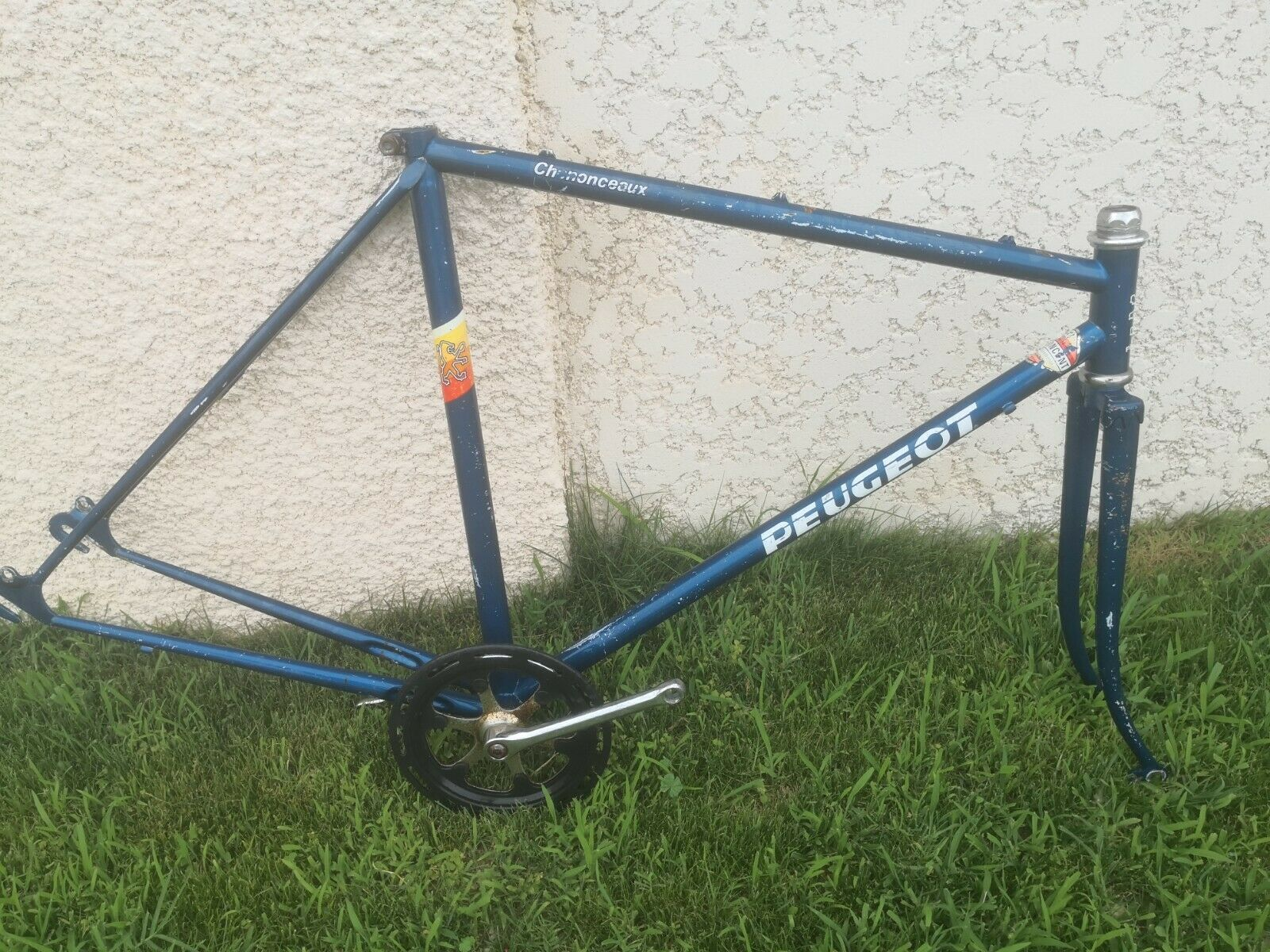 PEUGEOT CADRE  ANCIEN VÉLO  VINTAGE FRENCH  BICYCLE FRAME 54 old bike