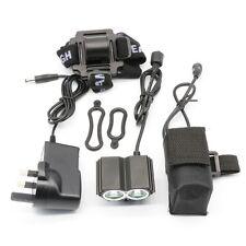 5000LM 2x Cree U2 T6 LED Mountain Bike Bicycle Headlight Headlamp+Battery kit UK