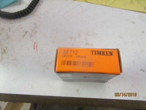 Timken Set 12,Set12 Cup//Cone Bearing L,M12749//LM12710
