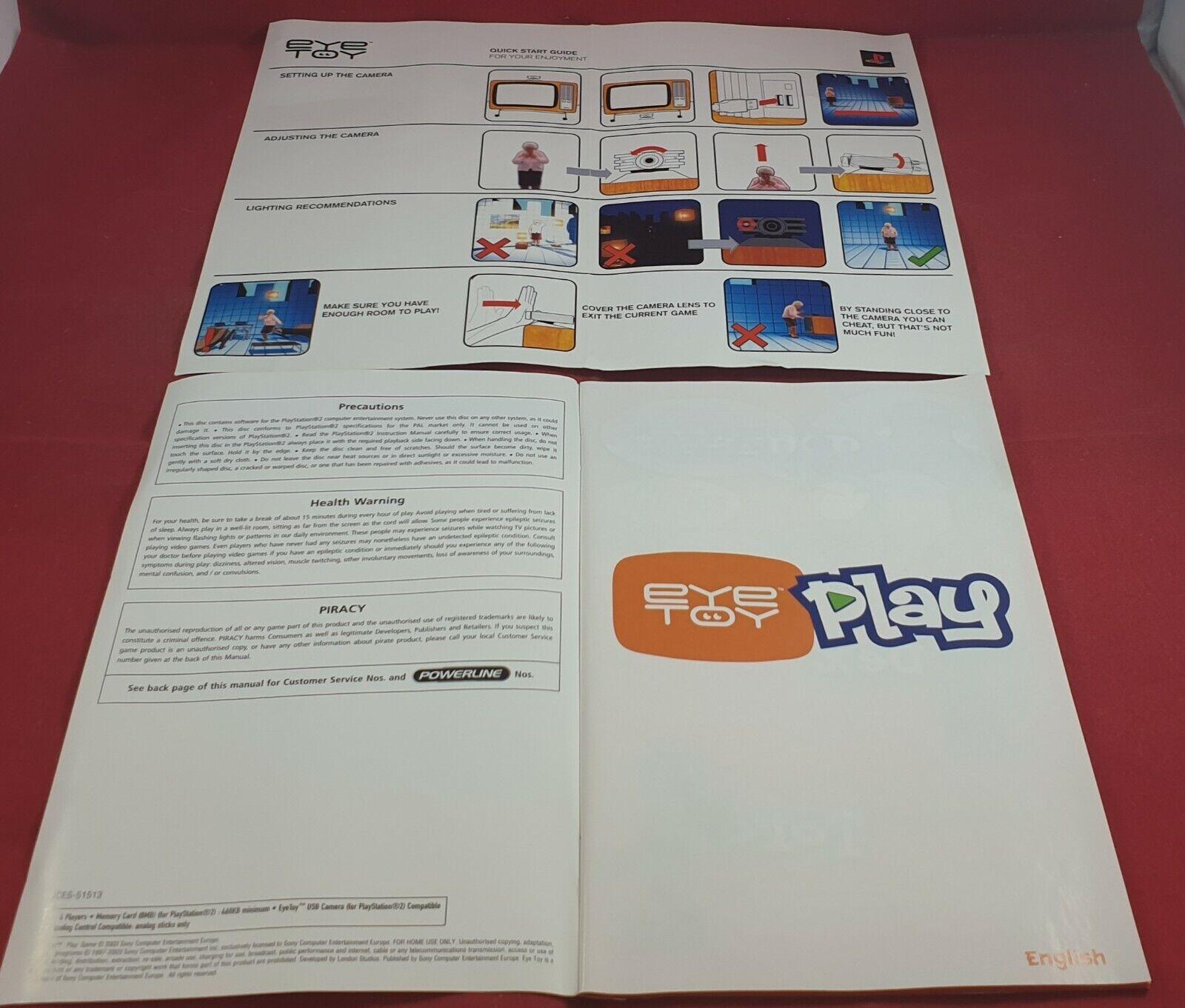 Boxed Eyetoy Camera with Eyetoy Play Sony Playstation 2