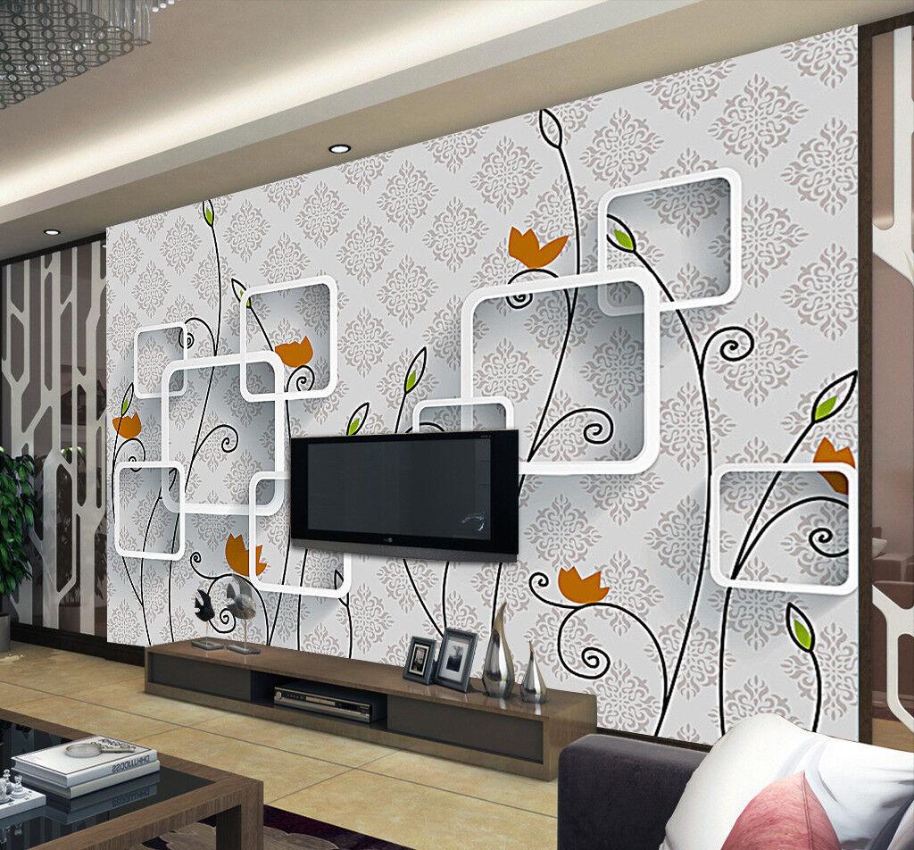 3D Laub Kasten Muster 7983 Tapete Wandgemälde Tapeten Bild Familie DE Jenny