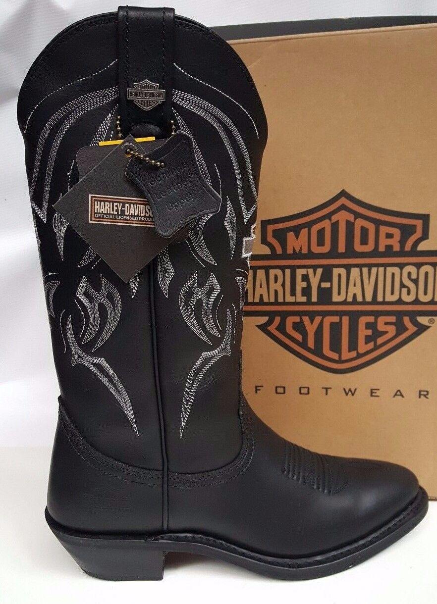 Da Uomo Harley Davidson EUR Bandera Western BOOT NERO PELLE EUR Davidson 40 dc67b2