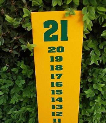 Green on Yellow Cornhole Scoreboard Farm Theme