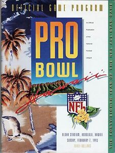 NFL Pro Bowl Game Program NFC AFC 1993