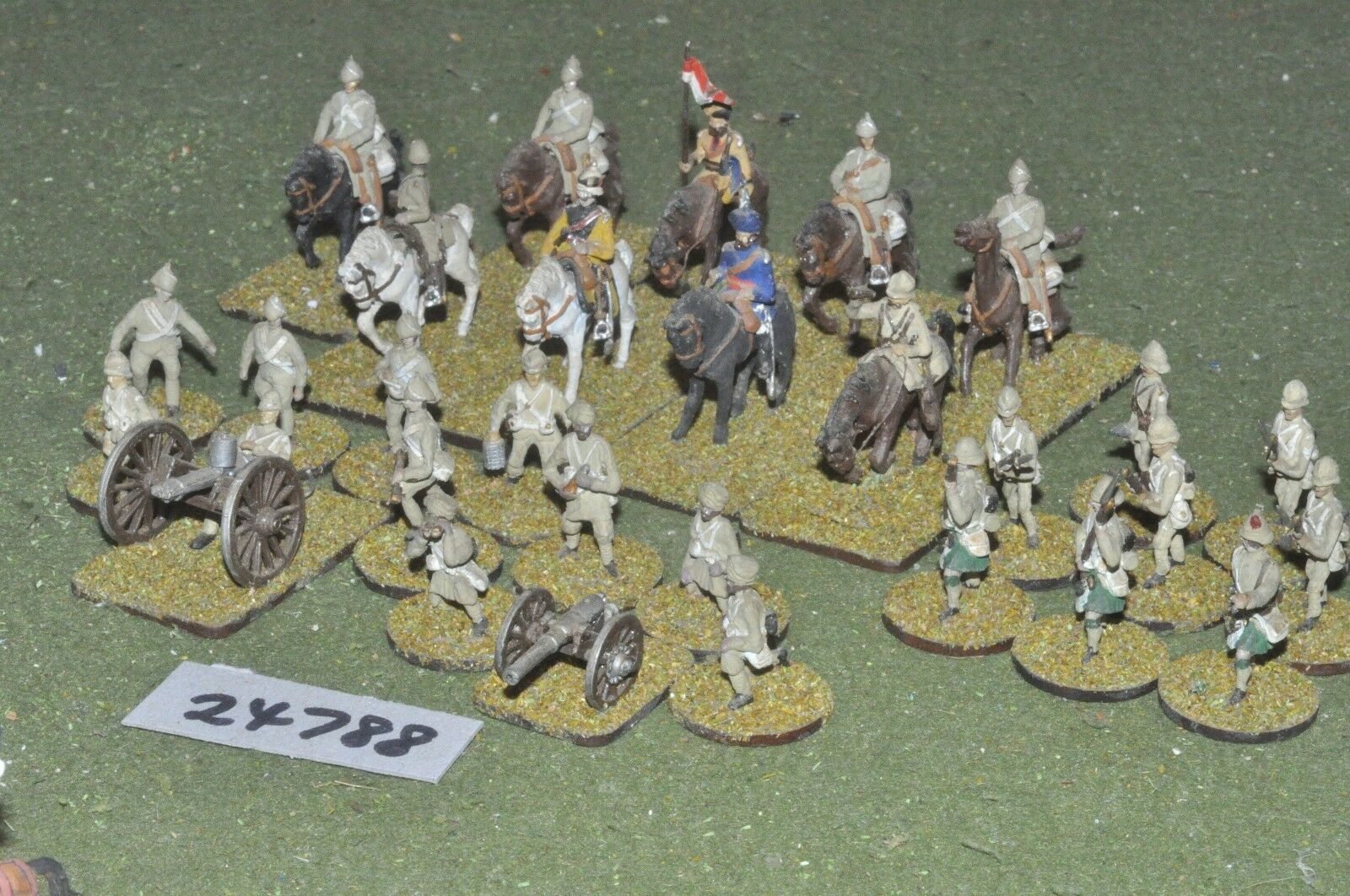 25mm colonial   british - battle group 28 figures - art (24788)
