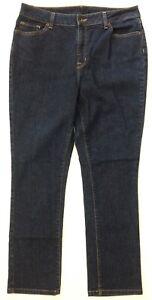 L-L-Bean-Women-039-s-14-Regular-Classic-Fit-Blue-Jeans-5-Pocket-Medium-Dark-Wash