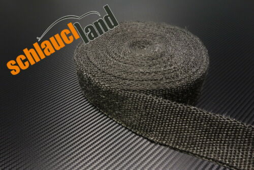 15m Hitzeschutzband 50mm schwarz 1000°C *** Heat Wrap Turbo Fächerkrümmer