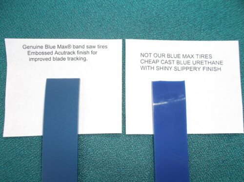 """2 BLUE MAX ULTRA DUTY .125 THICK URETHANE BAND SAW TIRES FOR GMF 14/"""" BAND SAW"""