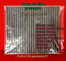 C35865 Carbonized Cabin Air Filter For Accent Veloster Forte Tucson Rio Sportage