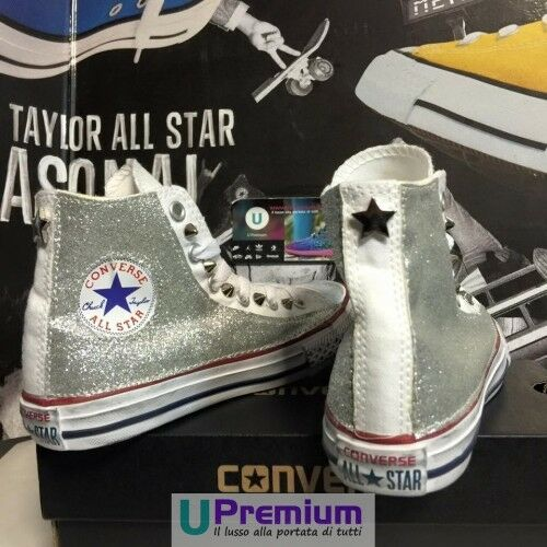 Converse Zapatos All Star Purpurina Stella Zapatos Converse Tachonada Hecho A Mano Borchi 26a9b4