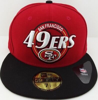 San Francisco 49ers//NFC New Era 59FIFTY fitted//hat//cap Football//Niners//Grey