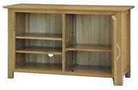Columbus Solid Oak Furniture Tv Dvd Cabinet Stand Unit