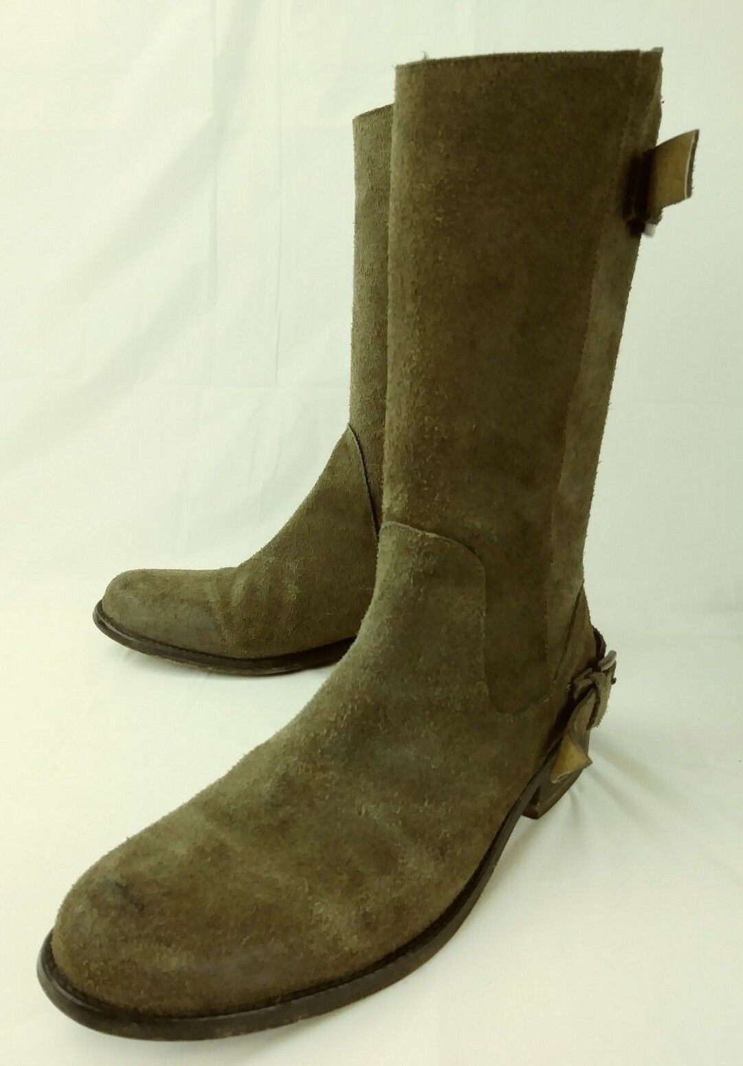 Steve Madden Luxe Wos bottes tall TORY US 8.5M marron Suede Zip Buckle Casual 2837