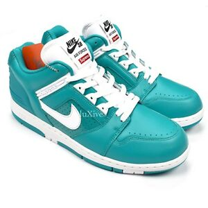 4fe95441a31e NWT Supreme Nike SB Air Force 2 AF2 Low New Emerald Sneakers 10 FW17 ...