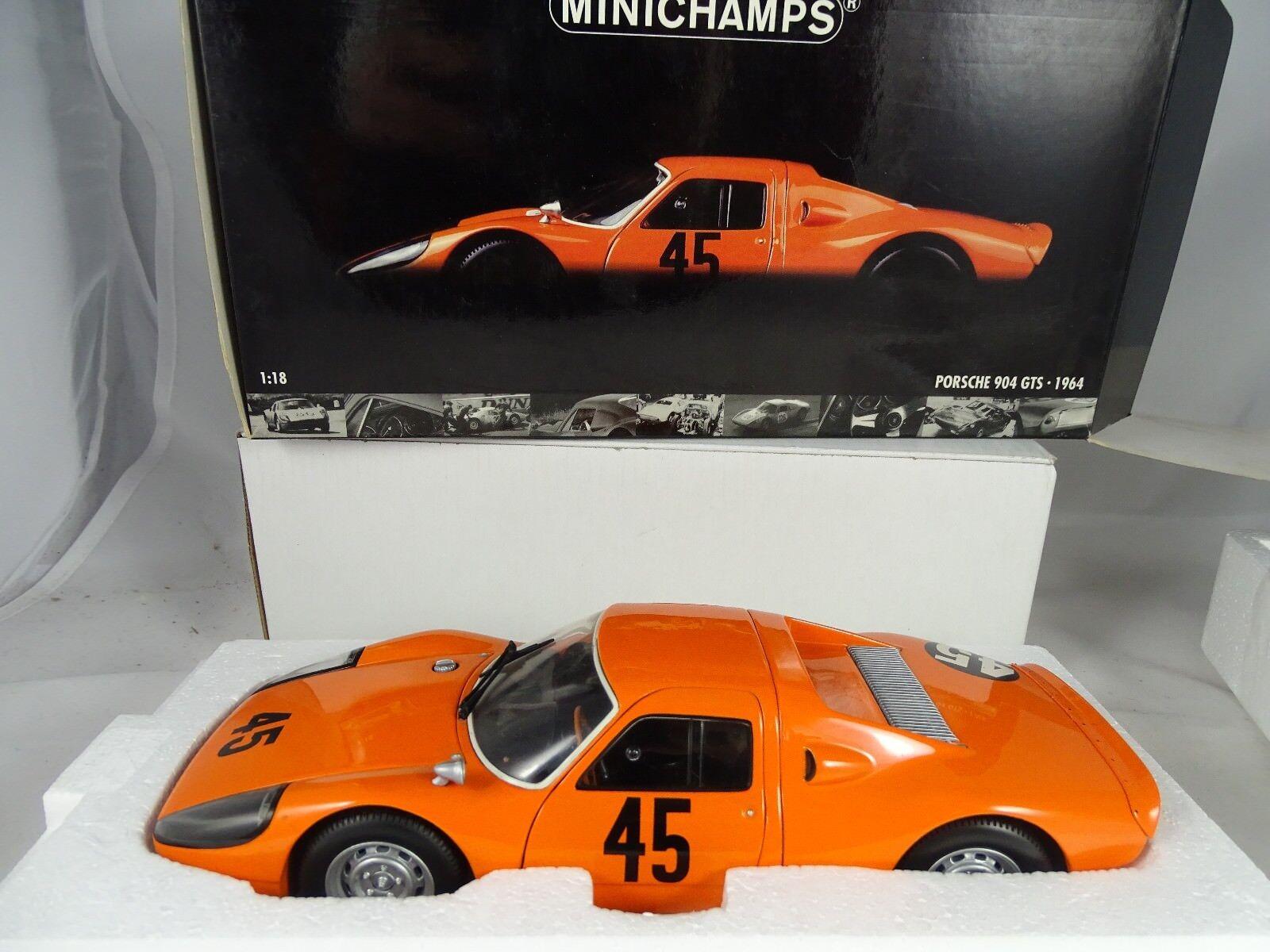 producto de calidad 1 18 Minichamps  180646745 Porsche 904 904 904 GTS 1964 pon Koch  45 naranja-rareza §  con 60% de descuento