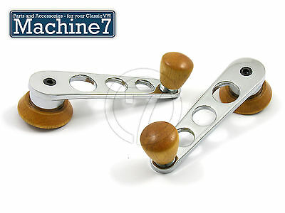 VW Beetle Camper Chrome Window Winder Handles Pair T1 T2 T3 Bus Bay