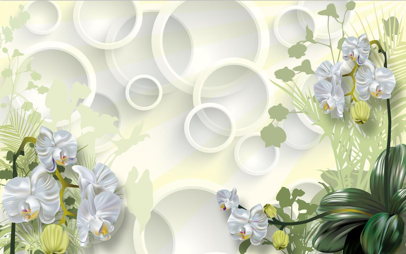 3D Circle Flowers 237 Wall Paper Wall Print Decal Decal Decal Wall Deco Indoor Wall Murals ed9e9e
