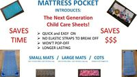 Fast On, Fast Off Style Daycare Sheets For Small Mats, Get Some Free