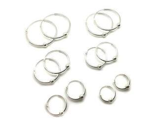 925 Sterling Silver Hoop Sleeper Earrings uZYfy