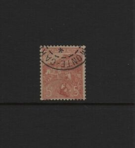 MONACO-STAMP-YVERT-N-33-034-WAR-ORPHANS-5F-5F-ROSE-ON-GREEN-1919-034-USED-VF-T779