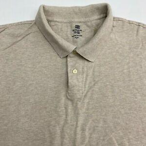 Faded Glory Polo Shirt Men's Size 3XL XXXL Short Sleeve Tan Casual 100% Cotton