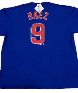 Men-039-s-Chicago-Cubs-Majestic-Javier-Baez-Tee-NWT-Authentic-Size-2XL-T-Shirt-Sale