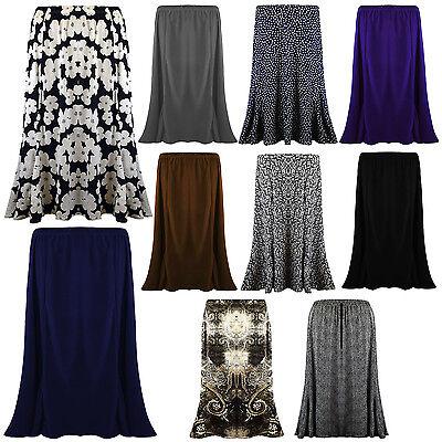 Kraftvoll New Ladies Womens Long Gypsy Skirt Maxi Plus Elastic Waist Jersey Dress Uk 12-22