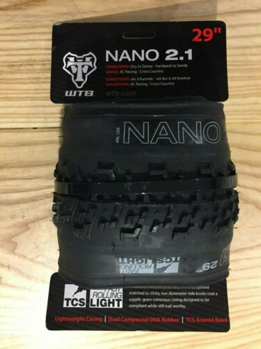 WTB NANO 2.1 TCS LIGHT FAST ROLLING  29 X 2.1 FOLDING BEAD MTB TIRE W010-0528