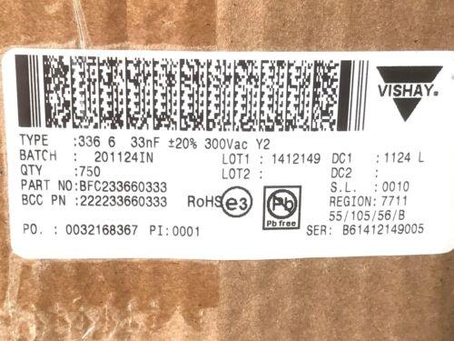 1000v- Vishay 300v ~ 33nf mkp 20 trozo y2 diapositiva rm15 0,033uf bfc233620333