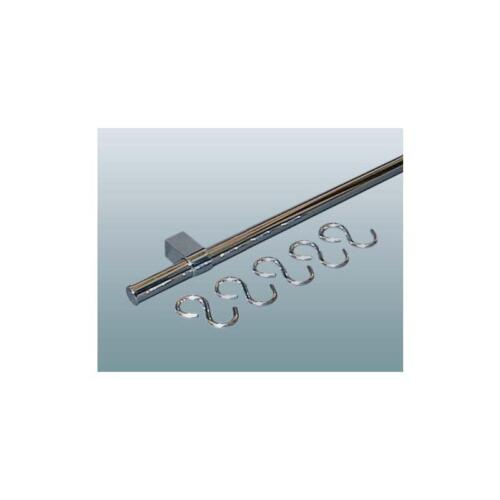 Relingsystem komplett 900 mm CHROM Reling Set Küchenreling Stange Küche