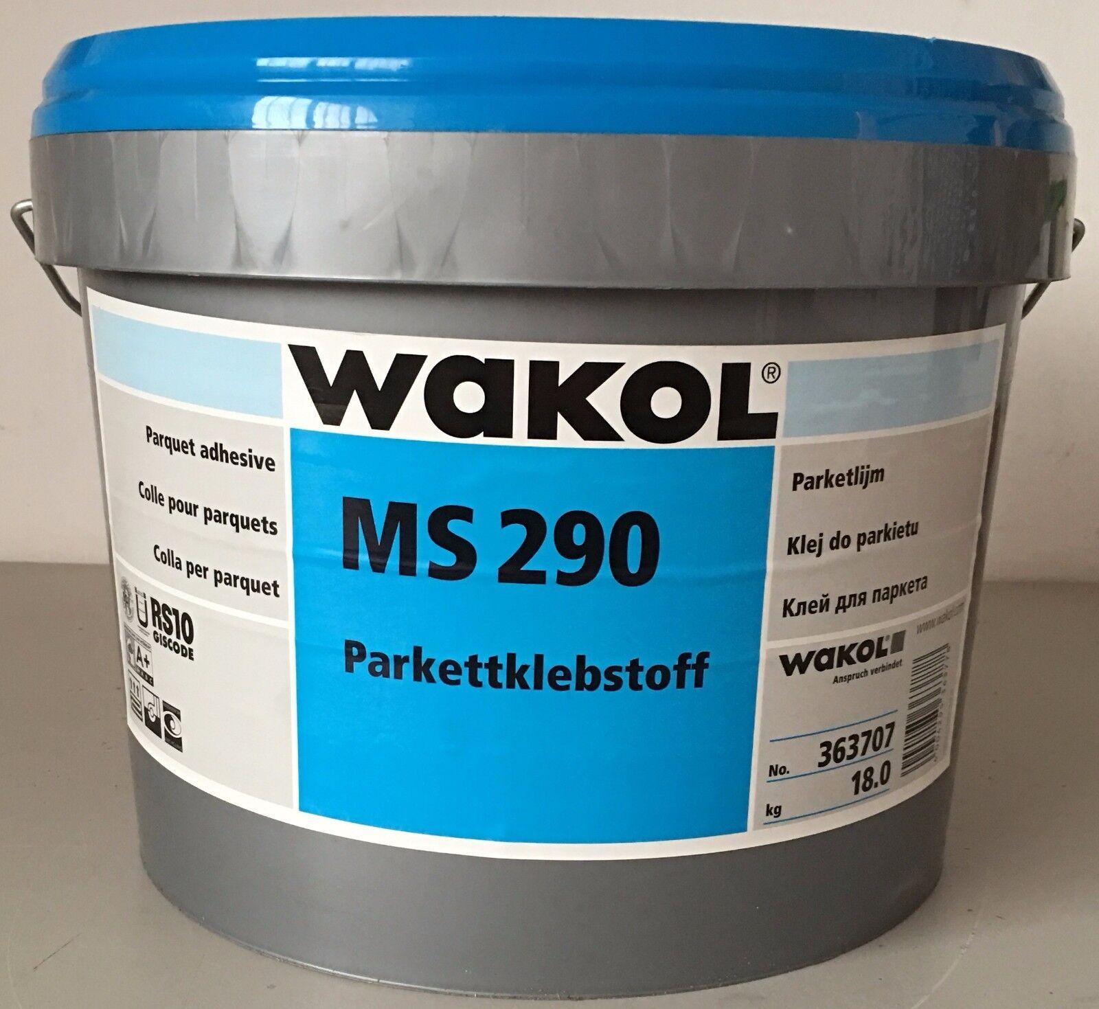 Parkettkleber 5 x 18 kg Wakol MS 290 schubfest Klebstoff Massivparkett