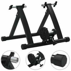 vidaXL-Roller-Trainer-Black-26-034-28-034-Steel-Exercise-Bike-Cycle-Training-Machine