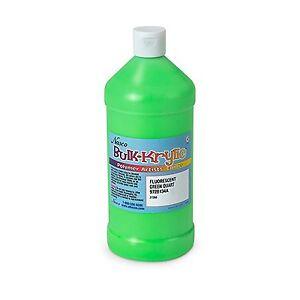 9728134 A BULK-KRYLIC ACRYLIC Paint 1 Quart Fluorescent Green FREE SHIPPING