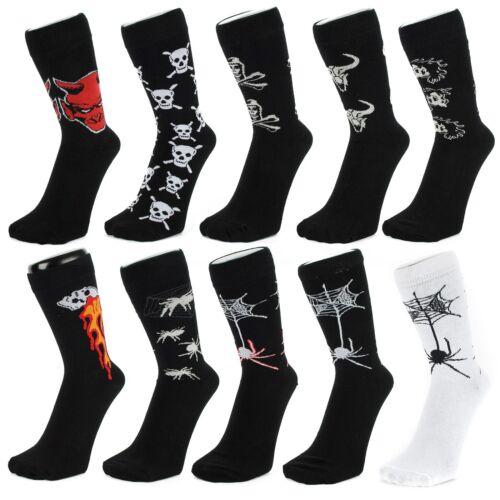 Socquettes Avec Têtes De Mort Diables Araignées Taureaux Style Gothique