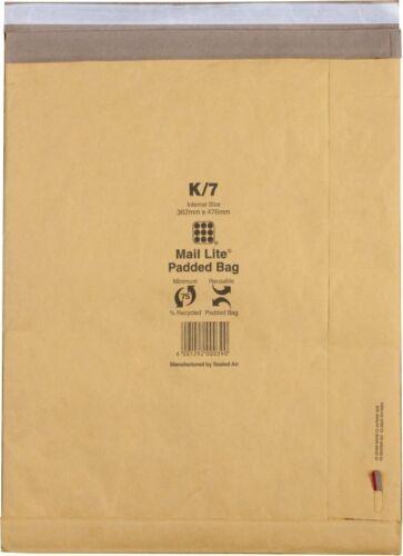 Pack of 50 100943512 Mail Lite Padded Postal Bag Size J//6 314 x 450mm