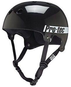 Protec Bucky Skate Helmet Gloss Black Size Small Skate Scooter Pro-Tec