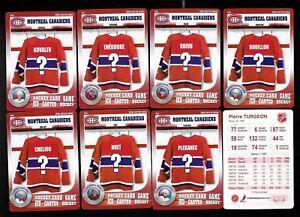 2007-08-MONTREAL-CANADIENS-NHL-HOCKEY-CARD-GAME-500-549-FRAMEWORTH-SEE-LIST