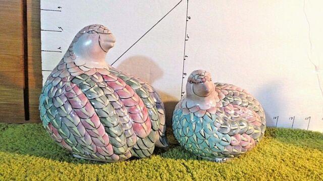 MACAU, Quail/Partridge, Hen & Chick, Asian, TOYO, Pastel Feathers