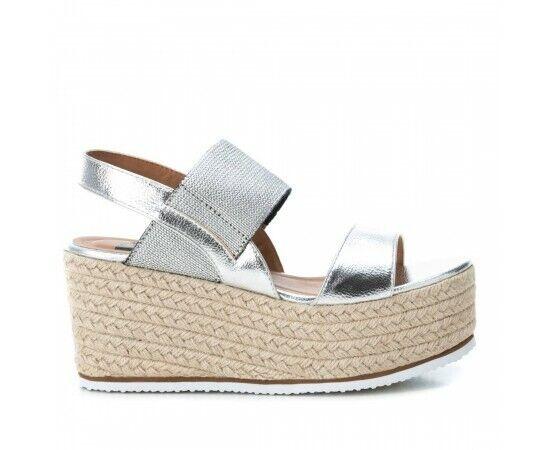 REFRESH chaussures SANDALO femmes CON ZEPPA 69736 gris argent DAL 35 AL 40 NEW