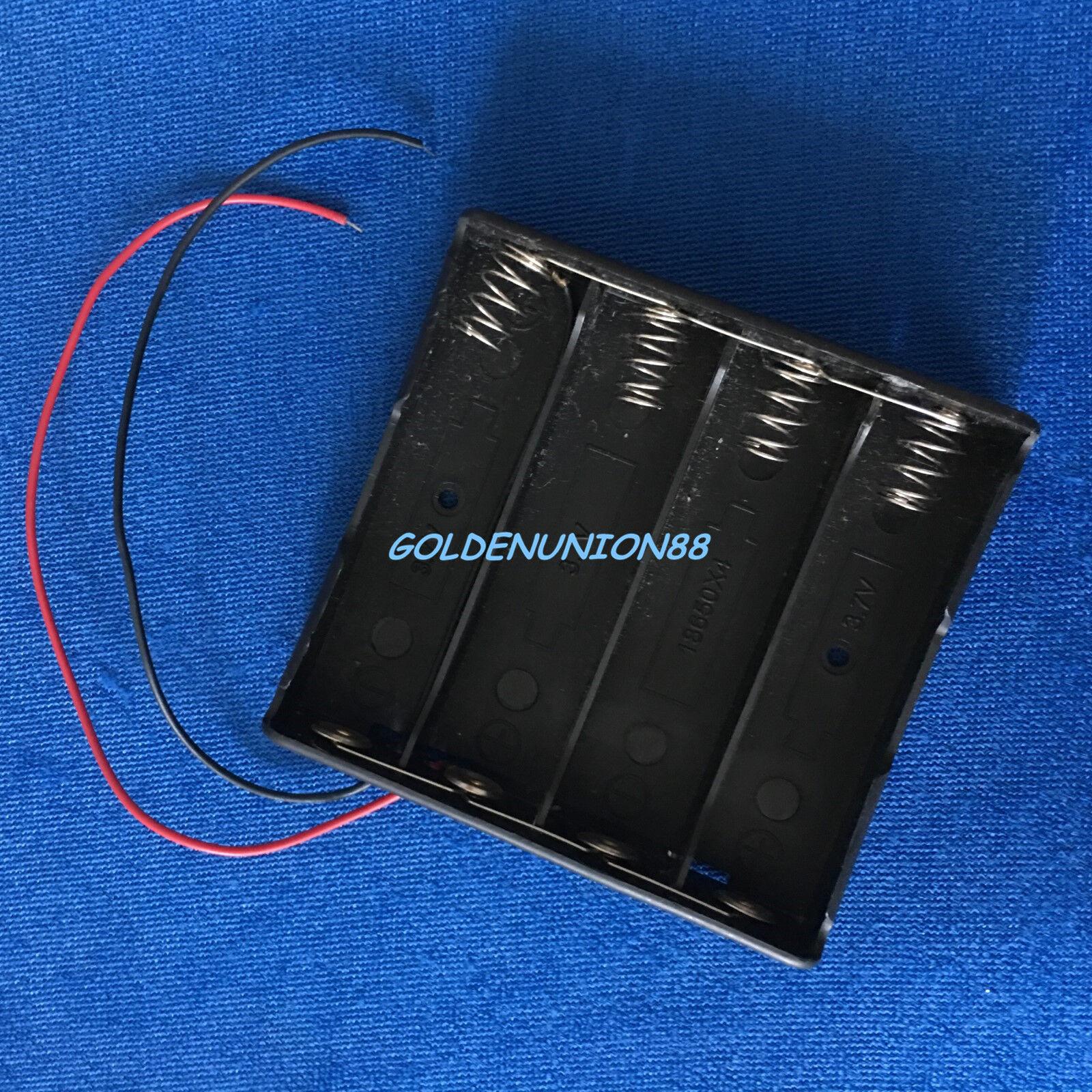 Plastic holder connecting box for 4P18650 4PC 18650 Parallel to 3.6V 3.7V 3.2V