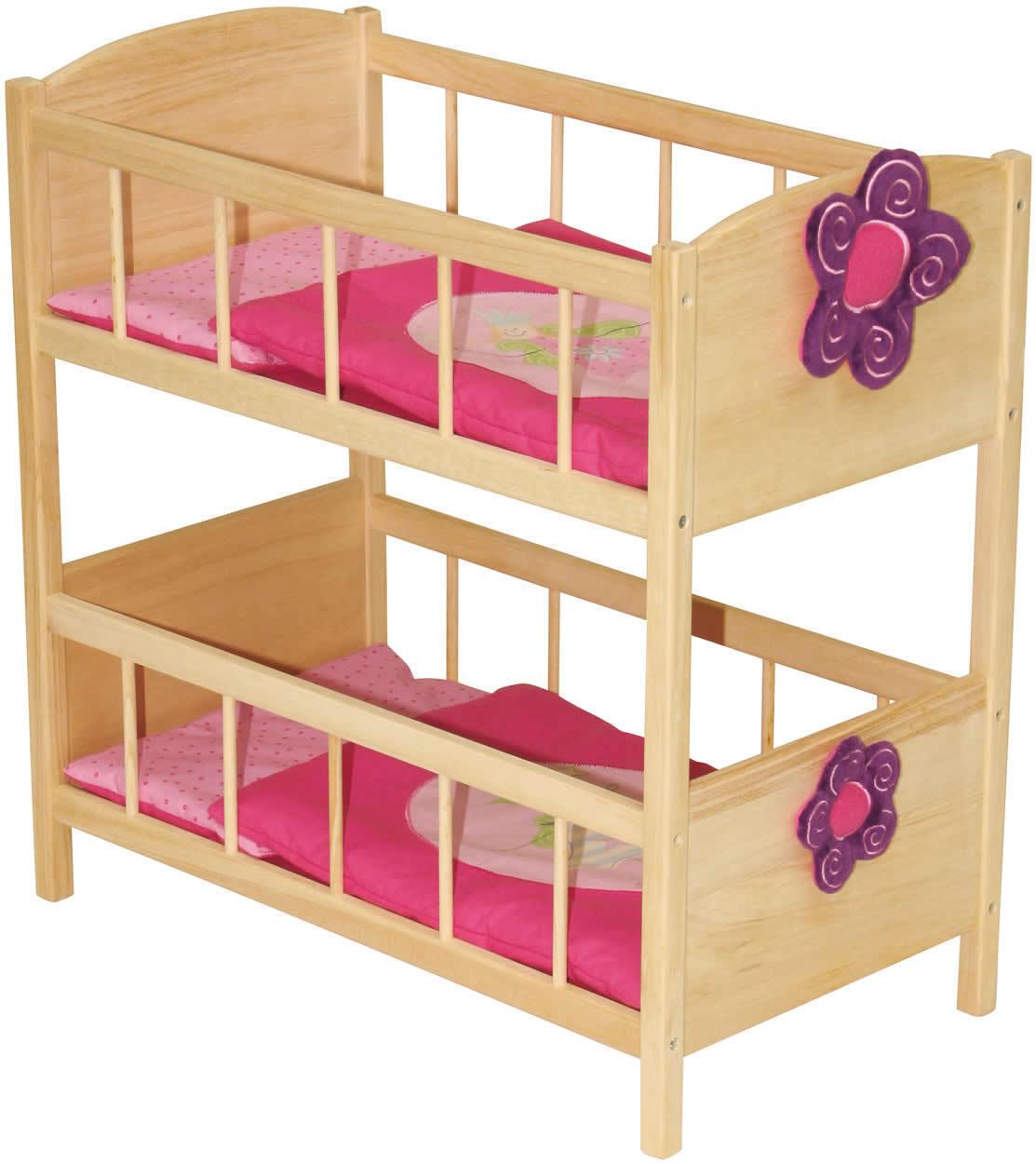 Roba bambole  Letto a castello Happy Fee letto a castello letto bambole di legno  spedizione gratuita in tutto il mondo