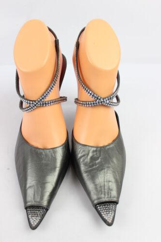 Grey All Magrit strass Décolleté T 41 5 eccellenti Leather Condizioni e Steel w7adt