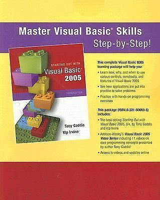 Starting Out with Visual Basic 2005 by Kip Irvine and Tony Gaddis (2006,  CD-ROM) for sale online | eBay