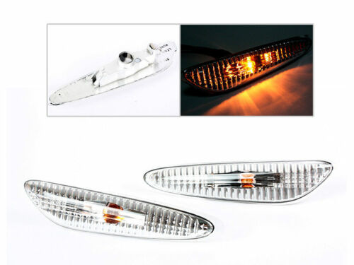 * For BMW E39 Sedan 5 series Side Marker Repeater Lights Lamps M5 Clear