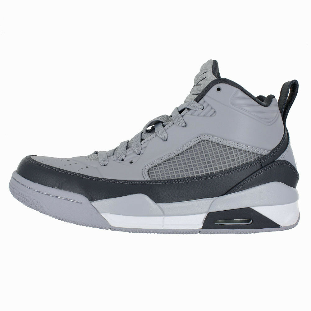JORDAN FLIGHT 9.5 WOLF GREY DARK GREY WHITE 654262 006 MENS US SIZES